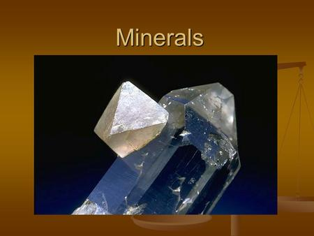 Minerals. What is a mineral? A mineral is a naturally occurring, inorganic crystalline solid with a repeating structure and constant chemical composition.