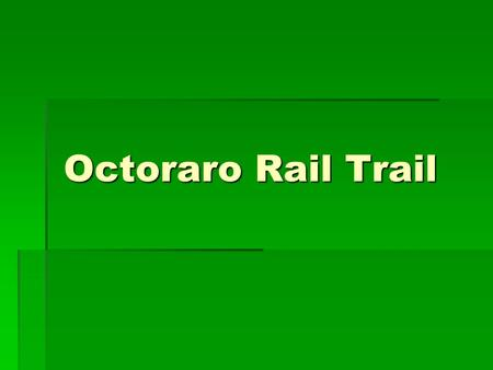 Octoraro Rail Trail. Intro  DCTMA formed Bike/Ped Committee in 2012  Mission is to support implementation of Delco Bike Plan  Selected Octoraro Rail-Trail.