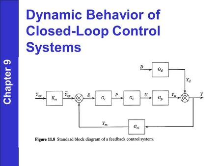 Dynamic Behavior of Closed-Loop Control Systems Chapter 9.
