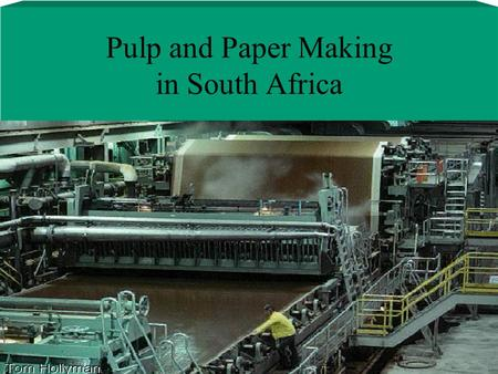 Pulp and Paper Making in South Africa