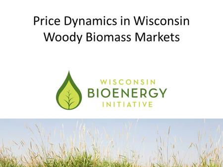 Price Dynamics in Wisconsin Woody Biomass Markets.