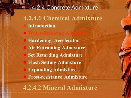 Chemical Admixture Mineral Admixture