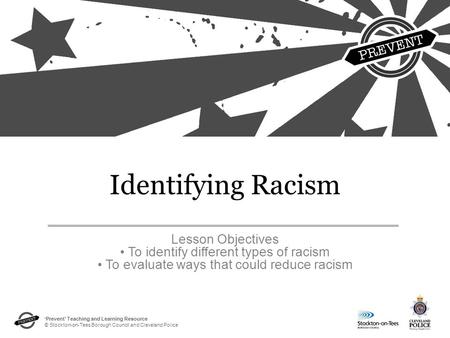 Identifying Racism Lesson Objectives
