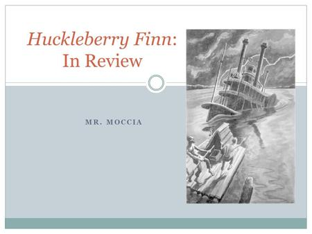 A plot review of the novel adventures of huck finn