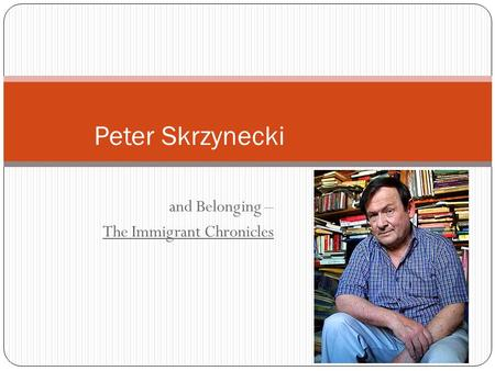 Feliks Skrzynecki - Poem by Peter Skrzynecki