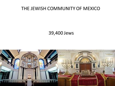 THE JEWISH COMMUNITY OF MEXICO 39,400 Jews. DESCRIPTION OF MEXICO Mexico is a Spanish-speaking country about three times the size of Texas, made of 31.
