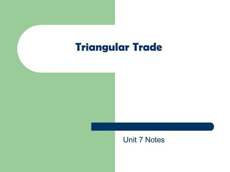 Triangular Trade Unit 7 Notes.