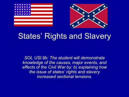 States' Rights and Slavery