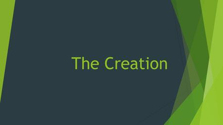 "The Creation. Definitions  The Greek noun ktisis, derived from the verb ktizō [to build], refers to ""creation (the act or the product)"" [Thomas 2937]."