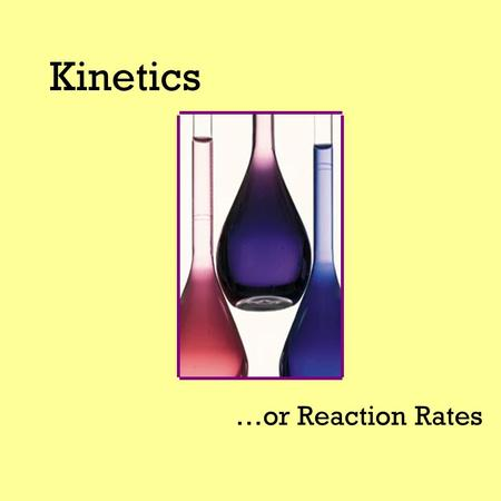 Kinetics …or Reaction Rates. Change The ice melted. The nail rusted.