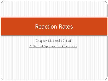 Chapter 12.1 and 12.4 of A Natural Approach to Chemistry Reaction Rates.
