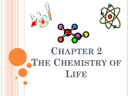 C HAPTER 2 T HE C HEMISTRY OF L IFE. Section 2-1 Atom: Smallest unit of matter; can't be broken down by chemical means. Atom has 3 particles: electrons.