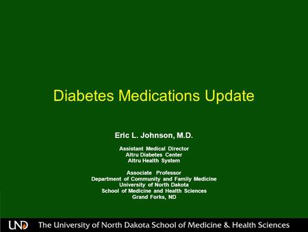 Diabetes Medications Update