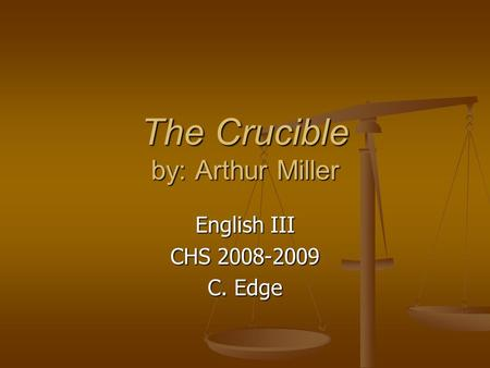 Why did Arthur Miller write The Crucible?