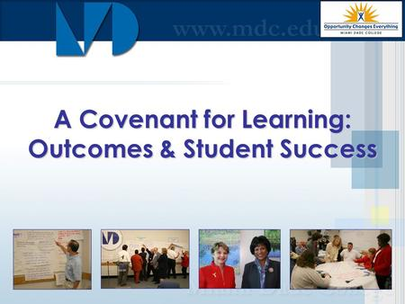 A Covenant for Learning: Outcomes & Student Success.