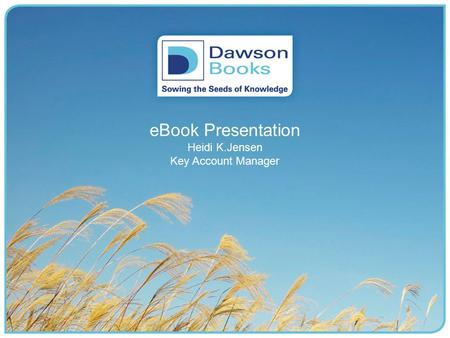 eBook Presentation Heidi K.Jensen Key Account Manager