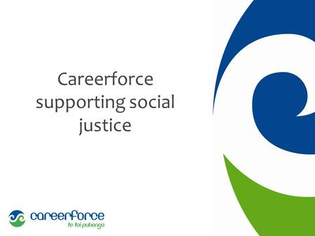 Careerforce supporting social justice. The need - has it changed? 2008 11,280 not for profit social services institutions 31,480 paid employed staff 10%
