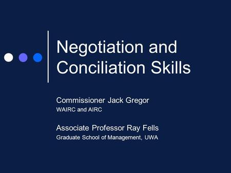 effective negotiation ray fells pdf