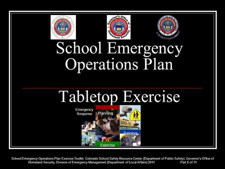 School Emergency Operations Plan Tabletop Exercise Planning Exercise Emergency Response Training School Emergency Operations Plan Exercise Toolkit. Colorado.