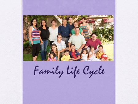 Family Life Cycle.