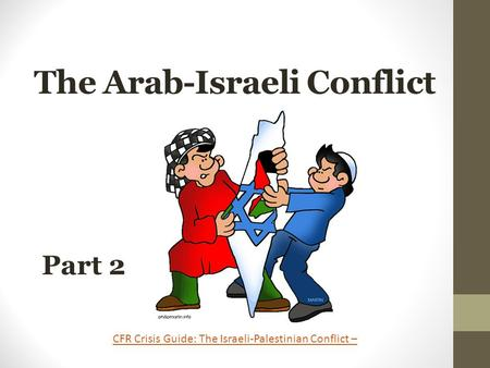 The Arab-Israeli Conflict Part 2 CFR Crisis Guide: The Israeli-Palestinian Conflict –