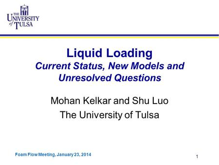 Liquid Loading Current Status, New Models and Unresolved Questions