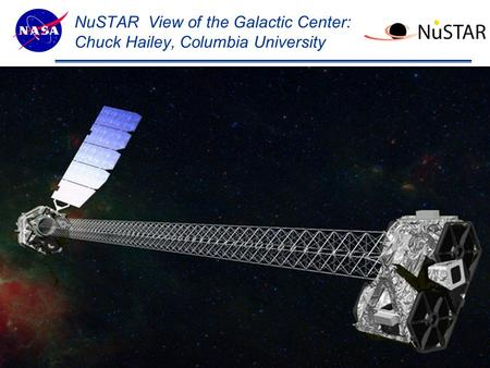 Theme Message (List 3 strengths ?) NuSTAR View of the Galactic Center: Chuck Hailey, Columbia University 1.