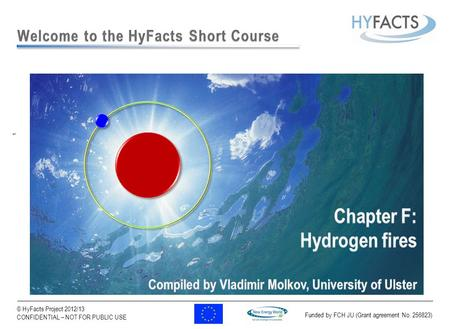 Funded by FCH JU (Grant agreement No. 256823) 1 © HyFacts Project 2012/13 CONFIDENTIAL – NOT FOR PUBLIC USE.