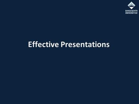 Effective Presentations. Jan 13, 2012Effective Presentations Outline Introduction Getting prepared The Presentation Sequence Technical Details – Big,