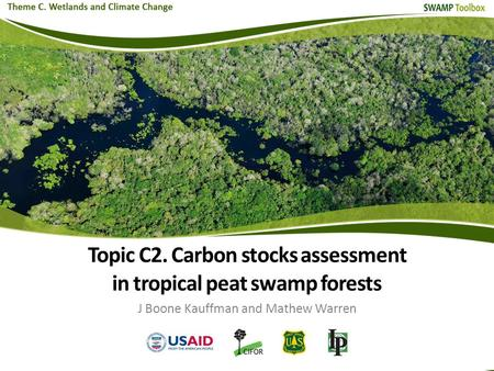 Topic C2. Carbon stocks assessment in tropical peat swamp forests J Boone Kauffman and Mathew Warren.
