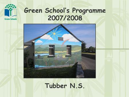 Green School's Programme 2007/2008 Tubber N.S.. Environmental Review Three areas were identified for attention:  Energy Awareness/Conservation  Waste.