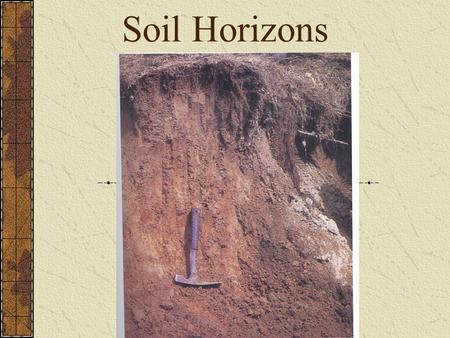 Soil Horizons. Organic Layer (O-horizon) The uppermost layer; it is rich in organic material. Plant litter accumulates in the O- horizon and gradually.