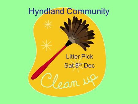 "Hyndland Community Litter Pick Sat 8 th Dec. The Lane It's a place frequented by a lot of our school pupils, its where they ""hang around"" But it turned."