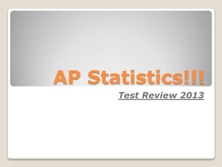 AP Statistics!!! Test Review 2013. Sampling Error ◦ Occurs in the act of choosing the sample ◦Undercoverage – certain members of population are 'left.