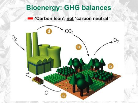 Bioenergy: GHG balances 'Carbon lean', not 'carbon neutral'