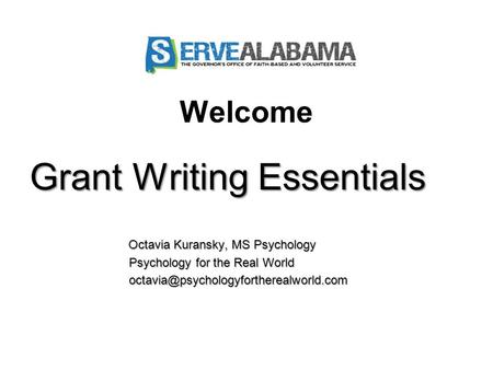 Grant Writing Essentials