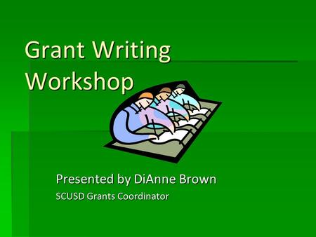 grant writing school