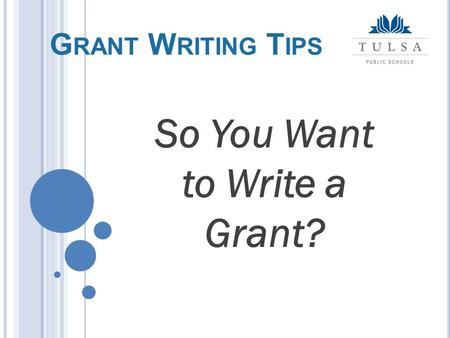 tips on grant writing