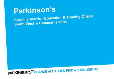 Parkinson's Finding the cure Presentation