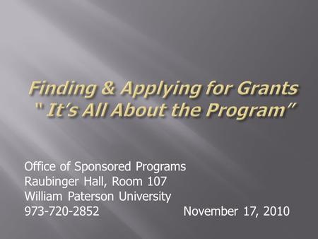 Afg grant writing assistance