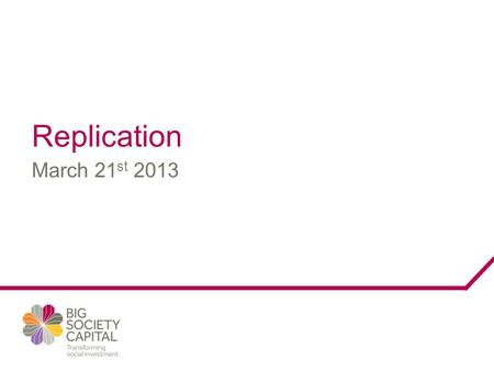 March 21 st 2013 Replication. What we don't want to replicate.