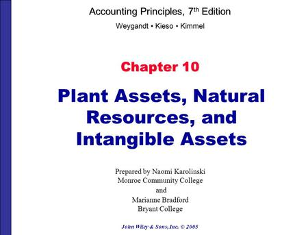 Plant Assets, Natural Resources, and Intangible Assets