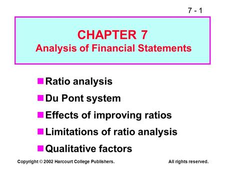 chapter 3 analysis of financial statement This program emphasizes both the process of financial reporting and the analysis of financial statements  chapter 5 - essentials of financial statement analysis.