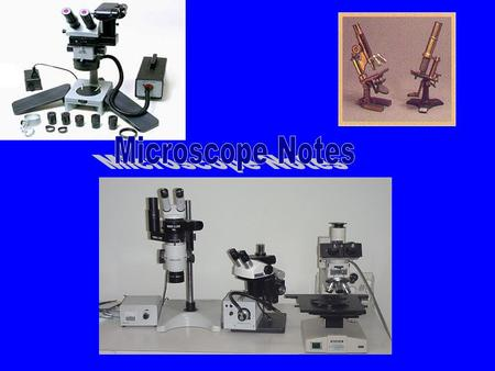 Microscope One or more lense that makes an enlarged image of an object. Occular lens Body Tube Arm Objective Lens Stage Stage Clips Base Diaphragm Light.