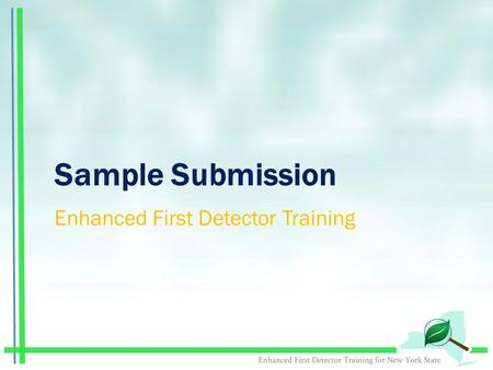 Sample Submission Enhanced First Detector Training.