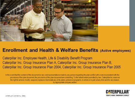Enrollment and Health & Welfare Benefits (Active employees)