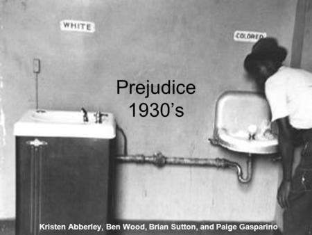 Prejudice 1930's Kristen Abberley, Ben Wood, Brian Sutton, and Paige Gasparino.