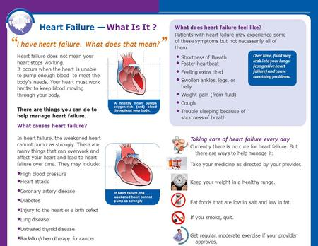 Heart Failure — What Is It ?