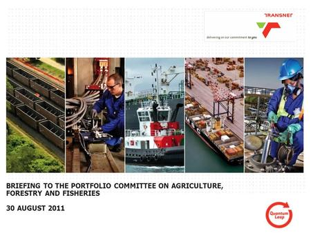 1PAGE BRIEFING TO THE PORTFOLIO COMMITTEE ON AGRICULTURE, FORESTRY AND FISHERIES 30 AUGUST 2011.