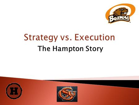 Strategy vs. Execution The Hampton Story. 2  Family-owned company in business since 1950s  One large Doug fir sawmill in Willamina, Oregon- annual production.